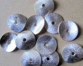 12mm Pure Silver Wavy Disc - 10 pcs