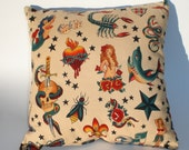 Tattoo Art throw Pillow , novelty..12x12