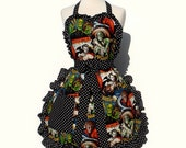 Retro Horror Movie Hollywood Monsters Vintage Inspired Apron