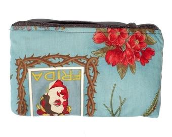 Frida Art Mexican Novelty wallet coin purse- w/zipper Big enough 4 Make-up