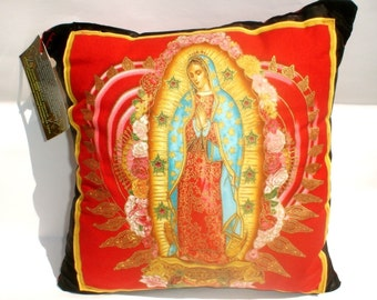 Pillow Mexican Virgin Mary Guadalupe throw Pillow