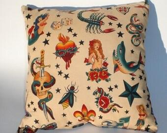 Tattoo Art throw Pillow , novelty..12x12