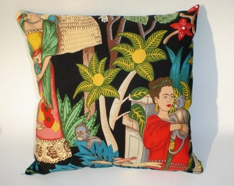 Frida  Art Mexican Novelty throw Pillow 12x12in