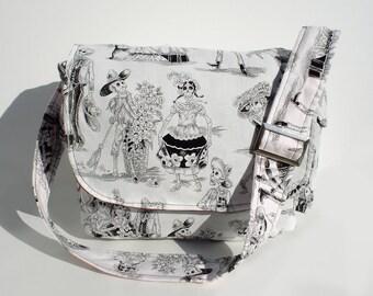 Day of the Dead / Dia de los Muertos Inspired Messenger Bag / Purse / Laptop Bag / Diaper Bag