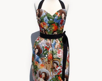 Pinup Dress Mexican Señoritas Dress