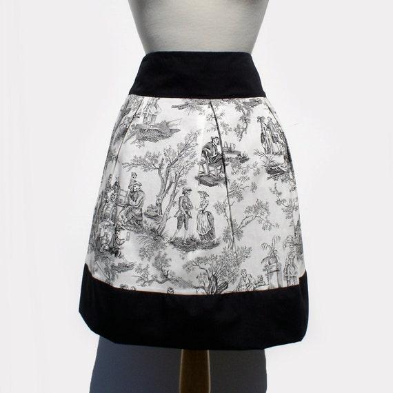 Skirt Day of the Dead Midnight Pastoral  Skull  Skirt