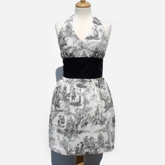 Rockabilly Pinup Day of the Dead Dress  Toile Dress