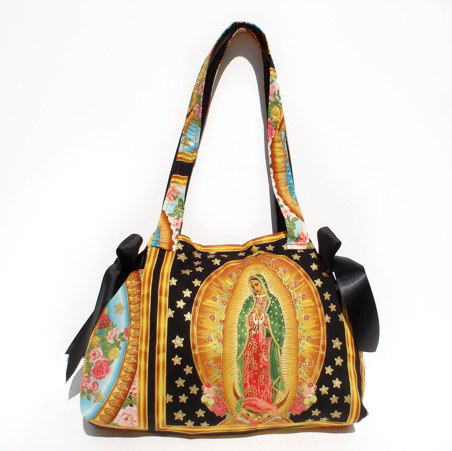 mexican guadalupe panel bag purse
