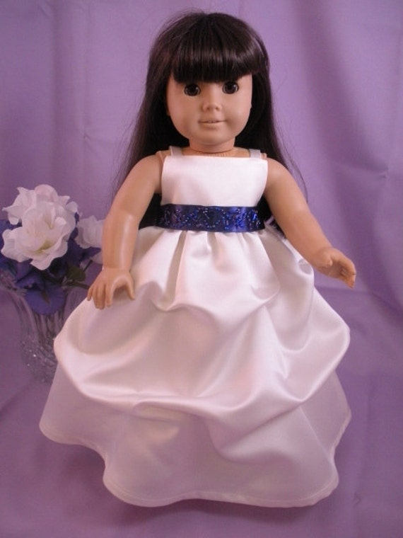 Flower girl dress for american girl doll wedding first for American girl wedding dress