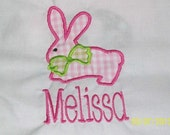 Appliqued Personalized Monogrammed Girl's Easter Shirt. Very Cute  All Sizes Available Boutique Style