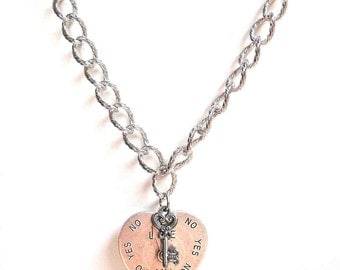 """He loves me, He loves me not"""" Necklace 88"""