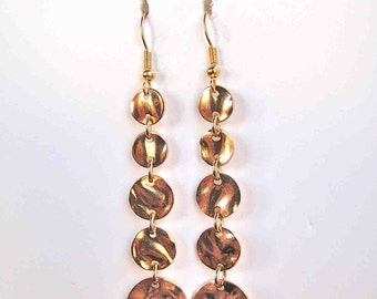 Hanging Hammered Disc Earrings 178