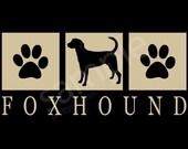 Foxhound Silhouette T-Shirt Tee - Men's, Ladies Women's, Short, Long Sleeve, Kids Youth