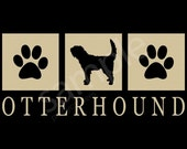 Otterhound Silhouette T-Shirt Tee - Men's, Ladies Women's, Short, Long Sleeve, Kids Youth