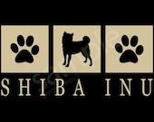 Shiba Inu Silhouette T-Shirt Tee - Men's, Ladies Women's, Short, Long Sleeve, Kids Youth