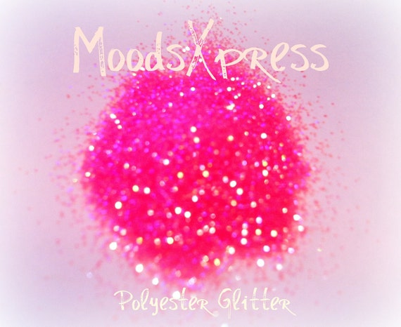 MoodsXpress Neon Pink Glitter for Cosmetics / Candles / Bath & Body Products / Crafts