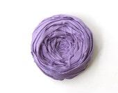 Rosette Brooch Pin Bellflower Purple Silk Flower Pin 2.5 inch