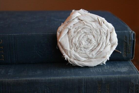 Silk Rose Bobby Pin handmade rosette