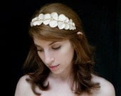 SALE Helen of troy headpiece, Greek inspired leaves and berries tiara in champagne ivory colors
