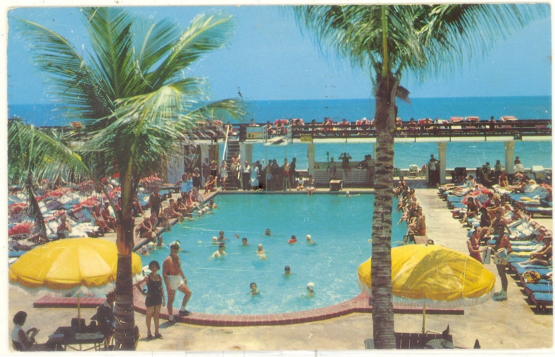 Vintage Florida Postcard Miami Beach President Madison