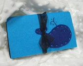 Austin Artisan-Coupon Organizer-Whale on Peacock Blue