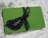 Austin Artisan- Coupon Organizer- Black Bird on Lime Green