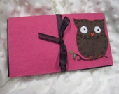Austin Artisan- Coupon Organizer- Owl on Hot Pink