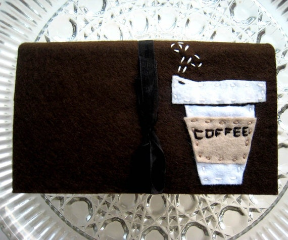 Austin Artisan- Coupon Organizer- Coffee Cup on Chocolate