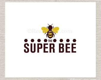 Custom Business Logo Design - Premdae Super Busy Bee Hive Honey Combs
