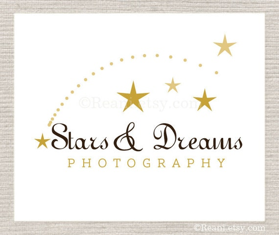 Custom Premade Logo Design By ReaniDesigns on Etsy - OOAK Never Resold - Star Comet Meteor Wish Photography