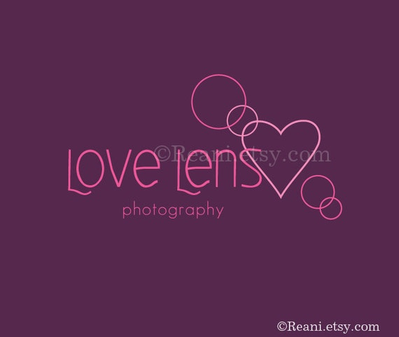 Logo Design OOAK - Hheart Lens Flare Photography Logo By ReaniDesigns on Etsy
