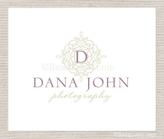 OOAK Premade Logo -  Photography Damask Flourish Swirl Shabby Chic By ReaniDesigns on Etsy
