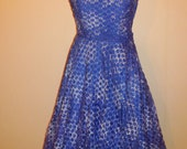 Blue bell - 50s ribbon full circle prom party dress
