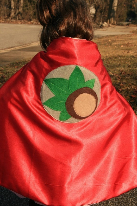 OHIO STATE BUCKEYE Super Hero Capes  For boys and girls double sided