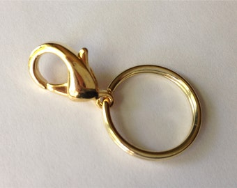 Golden ID BADGE Clip Keyring