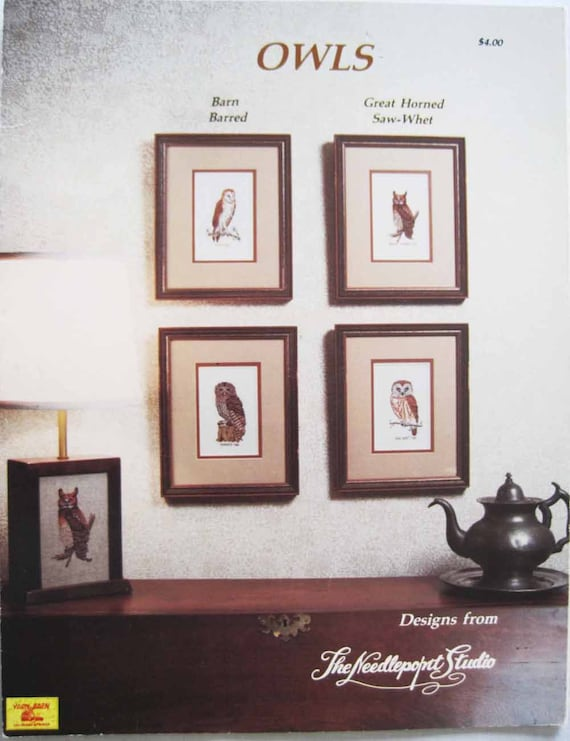 OWLS Cross Stitch Pattern Booklet by the Needlepoint Studio