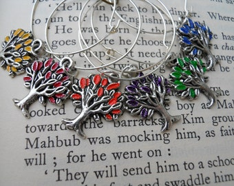 Family Tree-Hand Painted Wine Charms