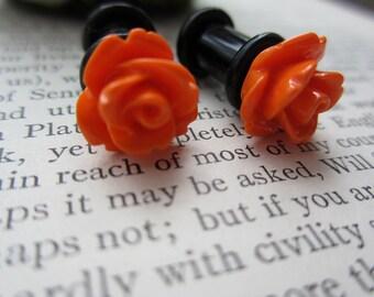 Plugs - Orange Roses