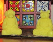ZEN CAT & DOG Soaps meditating position  Handmade Soaps Yellow Lemon Drop Scent
