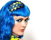 BOOM Headband, Yellow and Blue, Comic Inspired