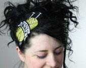 Tattoo Inspired Headband Knit in Yellow