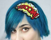 KABOOM Comic Headband, Yellow, red & white