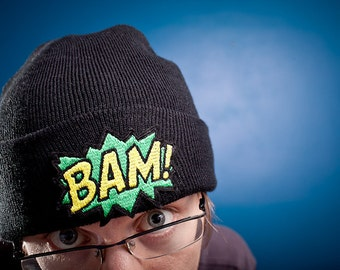 Mans Beanie, BAM, Knitted Cap in Various Colours
