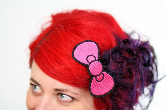 Pink Bow Hair Clip, Cute Bow, Hot Pink and Other Colour Choices- Black FRiday Cyber Monday
