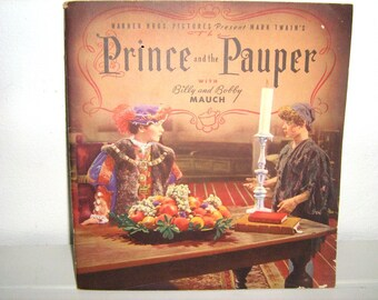 Book, Prince and the Pauper, 1937, Billy and Bobby Mauch, Warner Brothers, RARE