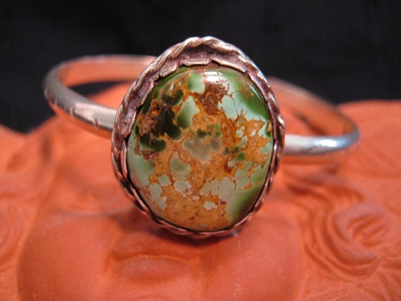 Turquoise, 1970s, silver bracelet, one of a kind, rare, stunning and unusual piece, hand made
