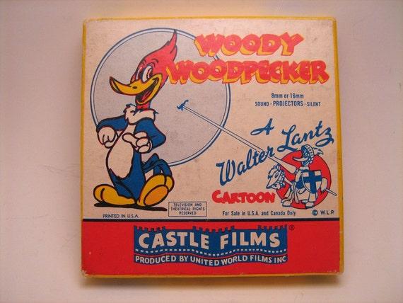 Vintage 1950s movie, Woody Woodpecker, Reckless Driver, 468,  cartoon film in original box