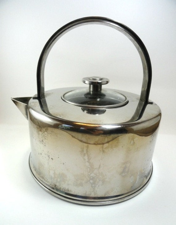 Vintage Copco Tea Kettle/Teapot, 2.5 QT. 18/10 Stainless Steel, Camping