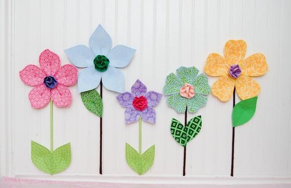 flower garden. custom. fabric wall flowers