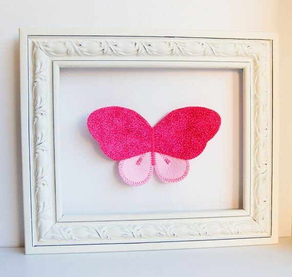 fabric butterfly.  wall decor. flutter. reserved for spham5